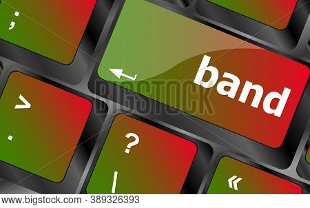 Band Word On Computer Pc Keyboard Key