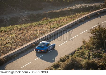 Col De San Colombano, Corsica, France - 8th October 2020: Gilles Angevin & Claire Angevin Compete In