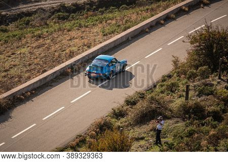 Col De San Colombano, Corsica, France - 8th October 2020: Dominique Tolmais & Antoine Tolmais Compet
