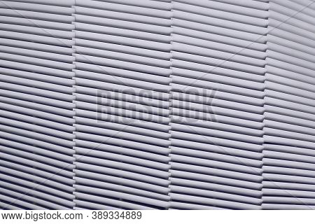 Texture Of Simple Slanted Lines. Background Metal Bars Of The Inclined Strips Of Ventilation, Textur