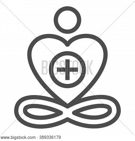 General Patient Well-being Line Icon, Medical Tests Concept, Wellness Symbol On White Background, He