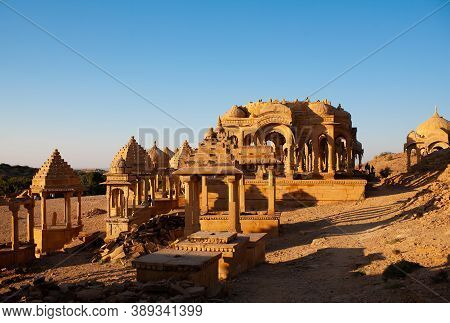 Ancient Bada Bagh Cenotaphs In Jaisalmer, Rajasthan State, India