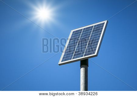 An image of a small solar plant