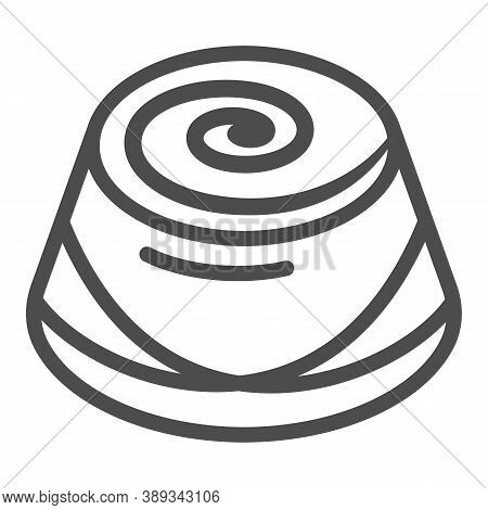 Chocolate Candy Line Icon, Chocolate Festival Concept, Candy Sign On White Background, Chocolate Pra