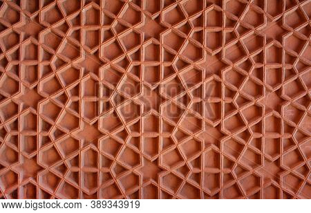 Stone Grate - Detail Of Palace In Red Fort Complex In Agra, Uttar Pradesh, India