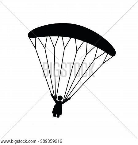 Paraglider Pictogram Isolated On White Background Vector Illustration Eps10
