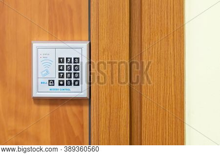 Digital Combination Door Lock. Password Code Security Keypad System, Protected Building