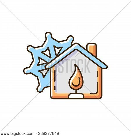 Warming Center Rgb Color Icon. Short-term Emergency Shelter. Death And Injury Prevention. Heated Fac