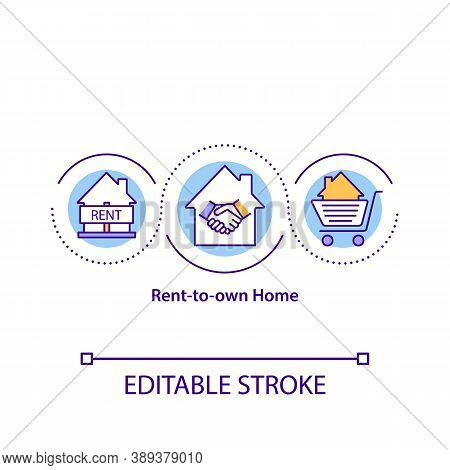 Rent-to-own Home Concept Icon. Renting Property For Specific Period Time. Tenant Deal. Rental Agreem