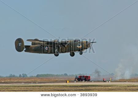 B-24 And Fire Truck