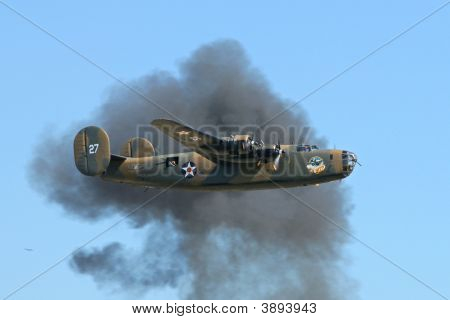 B-24 And Bomb Blast