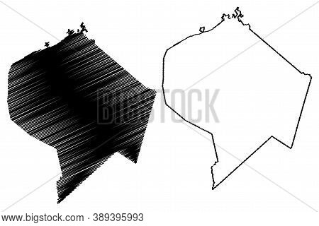 Lincoln County, Kentucky (u.s. County, United States Of America, Usa, U.s., Us) Map Vector Illustrat
