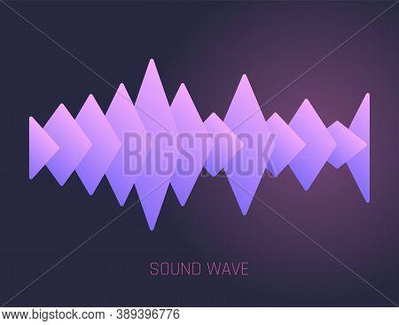 Color Sound Wave. Audio Digital Equalizer Technology, Musical Pulse Vector Illustration. Voice Line