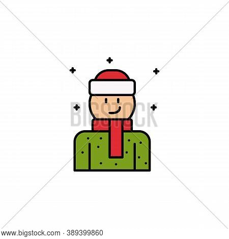 Winter Clothes, Christmas Line Icon. Elements Of New Year, Christmas Illustration. Premium Quality G