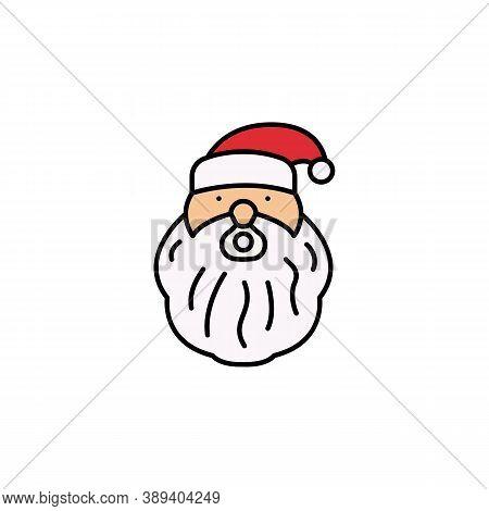 Santa Claus Line Icon. Elements Of New Year, Christmas Illustration. Premium Quality Graphic Design