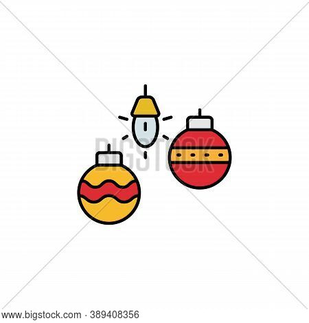 Christmas, Tree, Toys Line Icon. Elements Of New Year, Christmas Illustration. Premium Quality Graph
