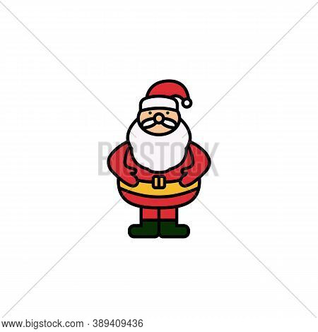 Santa Claus Line Icon. Elements Of New Year, Christmas Illustration. Premium Quality Graphic Design