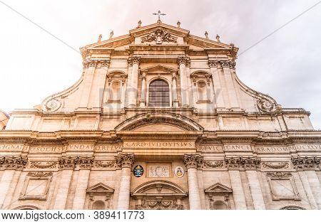 Church Of St. Ignatius Of Loyola At Campus Martius, Italian: Chiesa Di Santignazio Di Loyola, Piazza