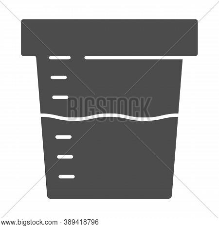 Urine Sample For Analysis Solid Icon, Medical Tests Concept, Sampling Container Sign On White Backgr