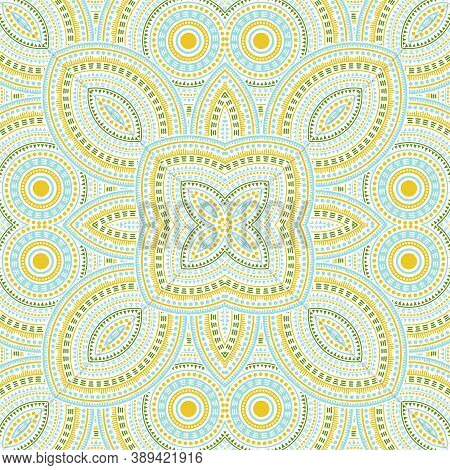 Subtle Moroccan Zellige Tile Seamless Pattern. Ethnic Geometric Vector Swatch. Plaid Print Design. S