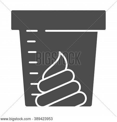 Stool Sample For Analysis Solid Icon, Medical Tests Concept, Fecal Analysis Sign On White Background
