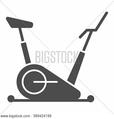 Exercise Bike Solid Icon, Gym Concept, Stationary Bike Sign On White Background, Fitness Cycling Ico
