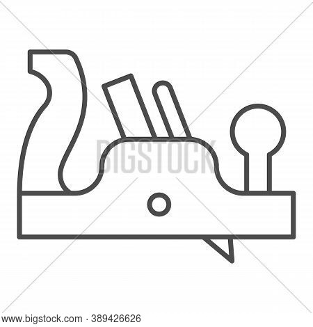 Jointer Plane Thin Line Icon, House Repair Concept, Retro Jack-plane Sign On White Background, Jack
