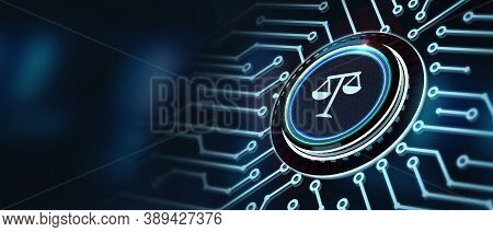Business, Technology, Internet And Network Concept. Labor Law Lawyer Legal.3d Illustration