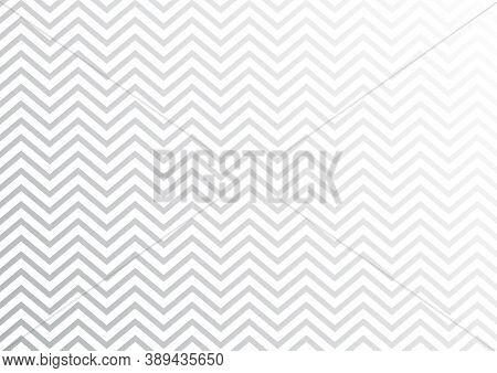 Abstract Seamless White Zig Zag Line Pattern On Grey Background. Vector Illustration