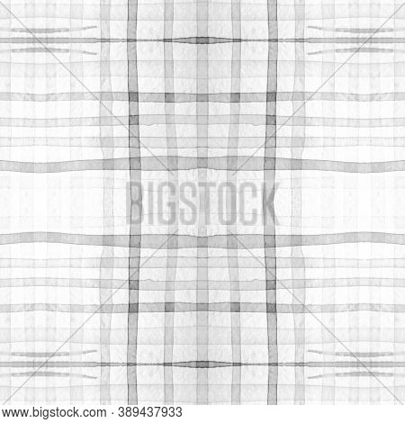 Tartan Mens Shirt Print. Watercolor Plaid Pattern. Wool Traditional Squares For Tweed Print. Seamles