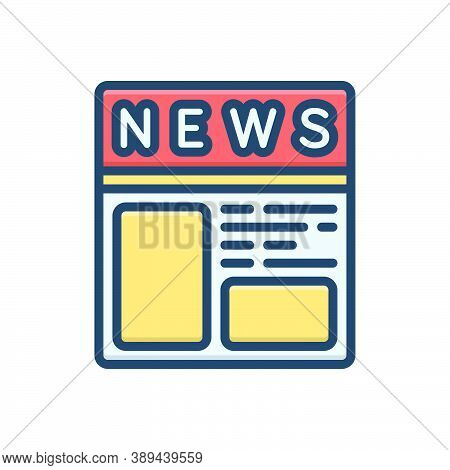 Color Illustration Icon For Newspaper-ads Newspaper Paper Journal Magazine News Document Classified