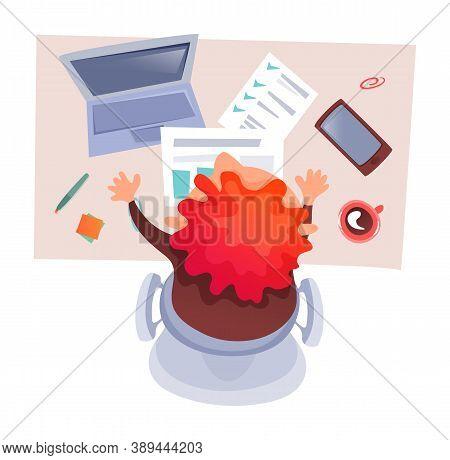 Office Worker Using Laptop, Businessman At Desktop, Data Analysis, Finance Report, Infochart Present