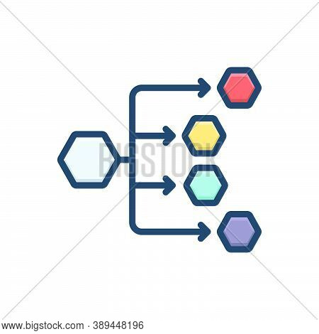 Color Illustration Icon For Distribution-channels Distribution Channels Connections Preferred Intern