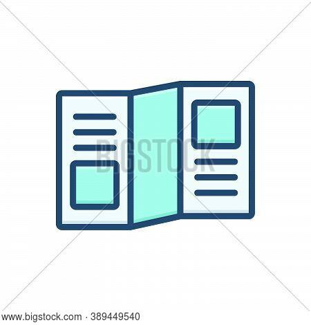 Color Illustration Icon For Leaflet-promo Leaflet Promo Template Advertisement Publication Flyer Bro