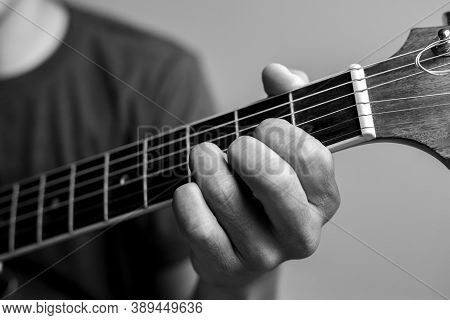 Musicians Are Catching Guitar Chords.