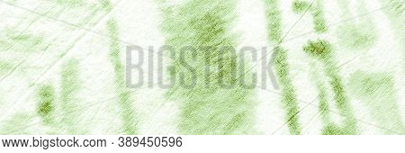 Green Grass Ikat Pattern. Tie Dye Batik Style. Water Color Paint Fabric. Crumpled Texture. Ikad Chev