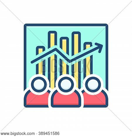 Color Illustration Icon For Team-efficiency Capacity Efficiency Competency Ability Accomplish Analys