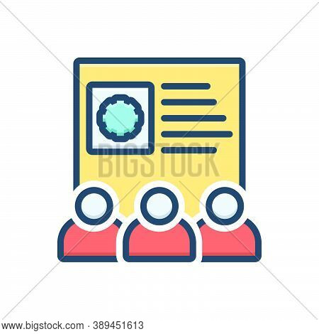 Color Illustration Icon For Team-skills Employee Configure Control Efficiency Management Preferences