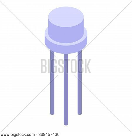Voltage Regulator Transistor Icon. Isometric Of Voltage Regulator Transistor Vector Icon For Web Des