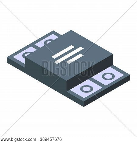 Voltage Regulator Protection Icon. Isometric Of Voltage Regulator Protection Vector Icon For Web Des