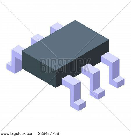 Voltage Regulator Circuit Protection Icon. Isometric Of Voltage Regulator Circuit Protection Vector