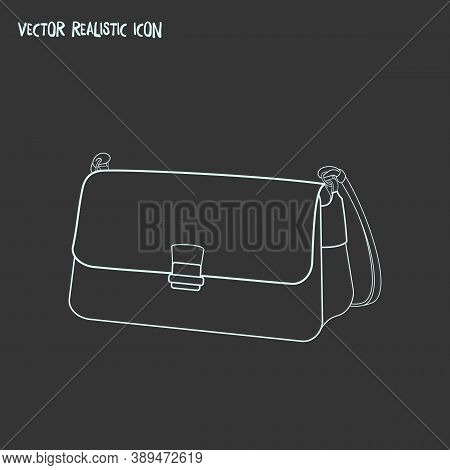 Baguette Bag Icon Line Element. Vector Illustration Of Baguette Bag Icon Line Isolated On Clean Back