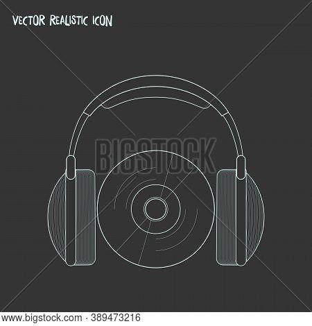 Audio Course Icon Line Element. Vector Illustration Of Audio Course Icon Line Isolated On Clean Back
