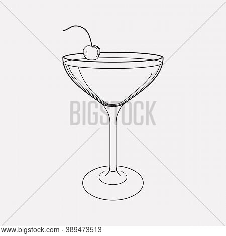 Mary Pickford Cocktail Icon Line Element. Vector Illustration Of Mary Pickford Cocktail Icon Line Is