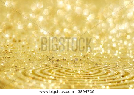 Golden Glitter Sparkles Dust  Background