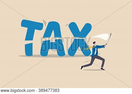 Tax Cut, Government Policy In Economic Crisis Or Financial Planning For Tax Reduction Concept, Profe