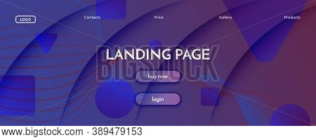 Blue Dynamic Abstract. Flow Shape Pattern. 3d Movement. Color Technology Flyer. Geometric Graphic Dy