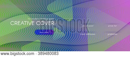 Flow Geometric Abstract. Color Dynamic Shape Landing Page. Colorful Minimal Banner. Modern Futuristi