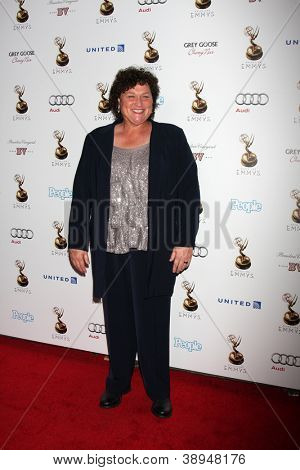 LOS ANGELES - SEP 21:  Dot-Marie Jones arrives at the Primetime Emmys Performers Nominee Reception at Spectra by Wolfgang Puck on September 21, 2012 in Los Angeles, CA