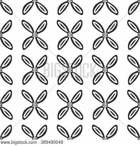 Scandinavian Folk Art.background Of Flowers.seamless Pattern. Norwegian Flower Ornament In Vector. F